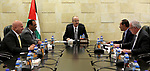 Palestinian Prime Minister, Rami hamdallah, chairs meeting of the committee charged with following up the approach of Palestine to INTERPOL in the West Bank city of Ramallah on Oct 12, 2017. Photo by Prime Minister Office