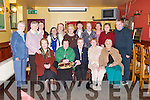 SENIOR: The senior citizens of Blennerville were treated to dinner at Kirby's Brogue Inn, Tralee, on Sunday. Front l-r: Mary Daly, Nora Wilks, Sheila O'Shea, Brigid Sutton and Mary Williams. Back l-r: Eileen Kelliher, Mary Fitzgerald, Kathleen Buckley, Amelia Day, Hannah Kerins, Mary Quirke, Phil Curran, Kay Cooper, Kathleen Collins, Katie Dillane and Neil Sutton. .