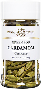 30604 Green Pod Cardamom, Small Jar 1.2 oz, India Tree Storefront