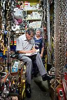 Ricardo Garcia y Mariana Acosta De La Torre. Hardware store owners in Mercado Hidalgo,  Mexico DF, Mexico
