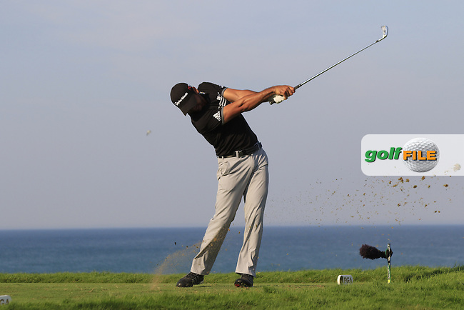 Jason DAY (AUS) tees off the par3 17th tee during Sunday's Final Round of the 97th US PGA Championship 2015 held at Whistling Straits, Mosel, Kohler, Wisconsin, United States of America. 16/08/2015.<br /> Picture Eoin Clarke, www.golffile.ie