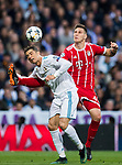Niklas Sule (R) of FC Bayern Munich fights for the ball with Cristiano Ronaldo of Real Madrid during the UEFA Champions League Semi-final 2nd leg match between Real Madrid and Bayern Munich at the Estadio Santiago Bernabeu on May 01 2018 in Madrid, Spain. Photo by Diego Souto / Power Sport Images