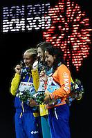 100 freestyle women<br /> SJOSTROM Sarah, Sweden SWE, silver medal<br /> CAMPBELL Cate, Australia AUS, gold medal<br /> KROMOWIDJOJO Ranomi, Netherlands NED, bronze medal <br /> Swimming - Nuoto <br /> Barcellona 2/8/2013 Palau St Jordi <br /> Barcelona 2013 15 Fina World Championships Aquatics <br /> Foto Andrea Staccioli Insidefoto