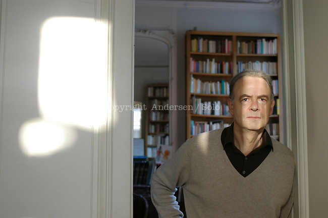 French author Patrick Modiano at home in Paris.