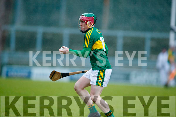 Sean Weir Kerry  in action against  Cork in the Co-op Superstores Munster Senior Hurling League on Sunday 14th January in Austin Stack Park, Tralee.
