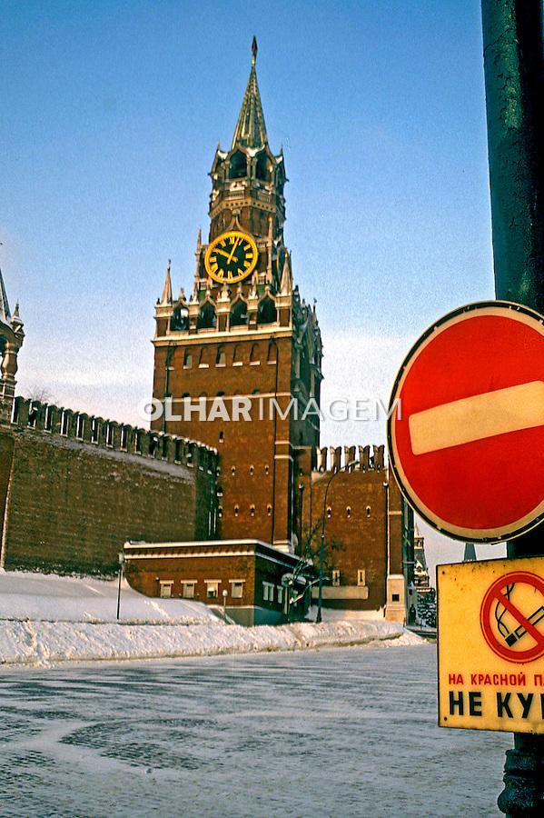Torre do Salvador na Praça Vermelha, Moscou. Russia. 1989. Foto de Stefan kolumban.
