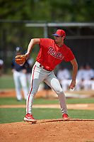 Philadelphia Phillies pitcher Nick Lackney (99) during an Instructional League game against the Detroit Tigers on September 19, 2019 at Tigertown in Lakeland, Florida.  (Mike Janes/Four Seam Images)