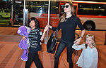 Angelina Jolie, Pax and Vivienne, Jul 28, 2013 :  Tokyo, Japan : Brad Pitt, Angelina Jolie and their children Pax, Knox and Vivienne arrive at Tokyo International Airport in Tokyo, Japan on July 28, 2013. (Photo by AFLO)