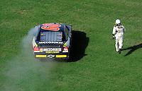 Apr 26, 2009; Talladega, AL, USA; NASCAR Sprint Cup Series driver Brian Keselowski heads to victory lane after winning the Aarons 499 at Talladega Superspeedway. Mandatory Credit: Mark J. Rebilas-