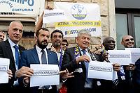 Roma, 2 agosto 2018<br /> Iwobi Tony Chike, Fusco Umberto.<br /> Flash mob della Lega a sostegno delle politiche del ministro dell'interno Matteo Salvini