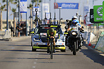 Adam Yates (GBR) Mitchelton-Scott during Stage 1 of the La Vuelta 2018, an individual time trial of 8km running around Malaga city centre, Spain. 25th August 2018.<br /> Picture: Eoin Clarke | Cyclefile<br /> <br /> <br /> All photos usage must carry mandatory copyright credit (© Cyclefile | Eoin Clarke)