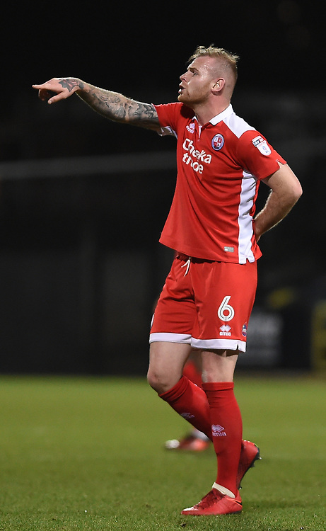 Crawley Town's Mark Connolly<br /> <br /> Photographer Jon Hobley/CameraSport<br /> <br /> The EFL Sky Bet League Two - Notts County v Crawley Town - Tuesday 23rd January 2018 - Meadow Lane - Nottingham<br /> <br /> World Copyright © 2018 CameraSport. All rights reserved. 43 Linden Ave. Countesthorpe. Leicester. England. LE8 5PG - Tel: +44 (0) 116 277 4147 - admin@camerasport.com - www.camerasport.com