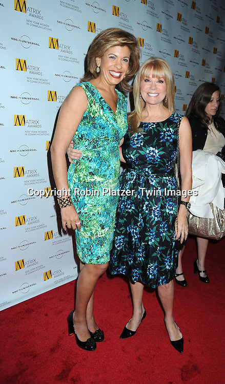 Hoda Kotb and Kathie Lee Gifford at The 2010 Matrix Awards on April 19, 2010 at The Waldorf Astoria Hotel in New York City.
