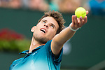 March 11, 2019: Dominic Thiem (AUT) in action where he defeated Gilles Simon (FRA) 6-3, 6-1 at the BNP Paribas Open at the Indian Wells Tennis Garden in Indian Wells, California. ©Mal Taam/TennisClix/CSM
