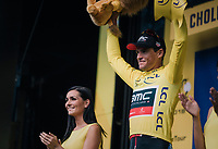 Team BMC wins the TTT & Greg Van Avermaet (BEL/BMC) takes the yellow<br /> <br /> Stage 3 (Team Time Trial): Cholet > Cholet (35km)<br /> <br /> 105th Tour de France 2018<br /> ©kramon