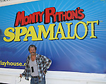 "Days of Our Lives and The Nanny - Charles Shaughnessy stars as ""King Arthur"" in Monty Python's Spamalot - a new musical lovingly ripped off from the motion picture Monty Python and the Holy Grail on September 9, 2010 at the Ogunquit Playhouse, Ogunquit, Maine. Former President George W. Bush and his wife Barbara came to see the musical and signed the poster. (See names under Charles's face and the President's is in the Holy Grail.) (Photo by Sue Coflin/Max Photos)"