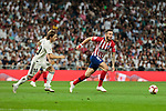 Real Madrid's Luka Modric and Atletico de Madrid's Saul Niguez during La Liga match between Real Madrid and Atletico de Madrid at Santiago Bernabeu Stadium in Madrid, Spain. September 29, 2018. (ALTERPHOTOS/A. Perez Meca)