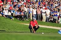 Matt Kucher (Team USA) on the 16th during the Friday afternoon fourball at the Ryder Cup, Hazeltine national Golf Club, Chaska, Minnesota, USA.  30/09/2016<br /> Picture: Golffile | Fran Caffrey<br /> <br /> <br /> All photo usage must carry mandatory copyright credit (&copy; Golffile | Fran Caffrey)