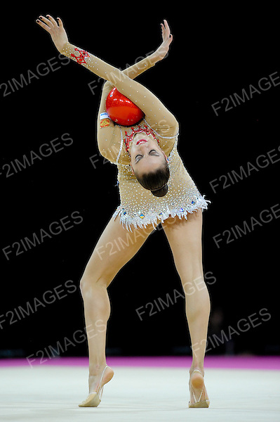 Rhythmic World Championships Montpelier France 20.9.11. Individual Competition Hoop & Ball.Evgenia KANAEVA of Russia winner of both Hoop and Ball Finals