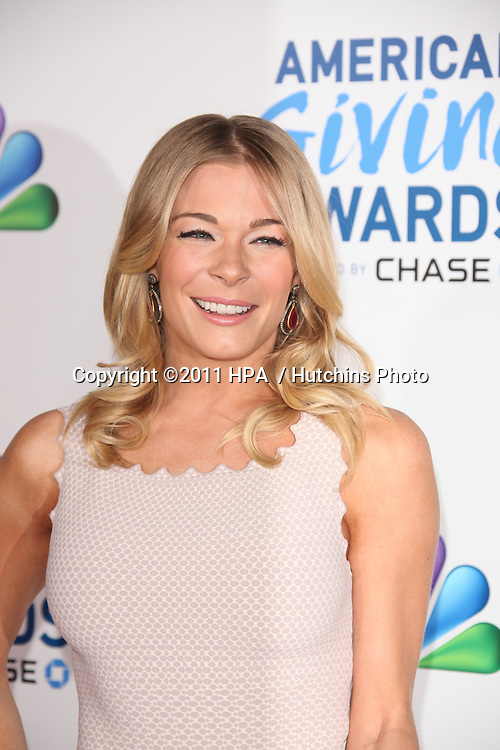 LOS ANGELES - DEC 9:  LeAnn Rimes arrives at the 2011 American Giving Awards at Dorothy Chandler Pavilion on December 9, 2011 in Los Angeles, CA