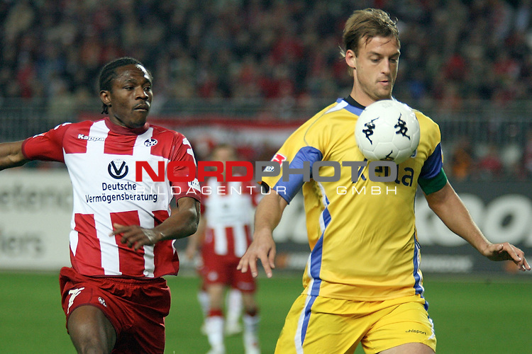 2. FBL 2006/2007 27. Spieltag RŁckrunde<br /> <br /> <br /> 1. FC Kaiserslautern vs MSV Duisburg<br /> <br /> v.l.: Emeka Opara 8FCK) gegen BjŲrn Schlicke (MSV)<br /> Foto &copy; nordphoto <br /> <br /> <br /> <br />  *** Local Caption ***