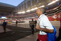 USA midfielder Ricardo Clark looks around before the game. USA 2, Mexico 0, at the University of Phoenix Stadium in Glendale, AZ on February 7, 2007.