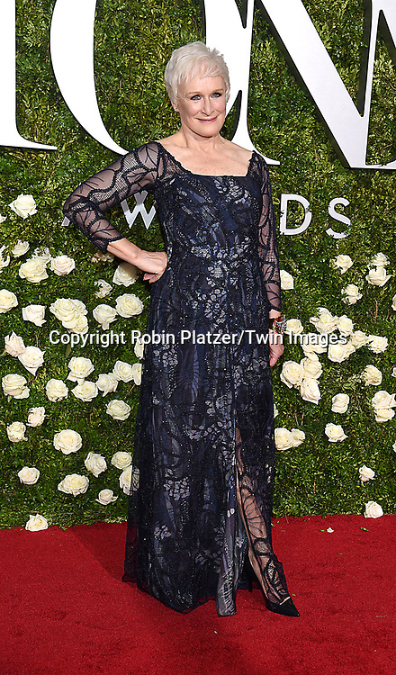 Glenn Close attends the 71st Annual  Tony Awards on June 11, 2017 at Radio City Music Hall in New York, New York, USA.<br /> <br /> photo by Robin Platzer/Twin Images<br />  <br /> phone number 212-935-0770