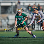 30 March 2016: Manhattan College Jasper Attacker Darby Nolan, a Junior from Oakridge, NJ, in action against the University of Vermont Catamounts at Virtue Field in Burlington, Vermont. The Lady Cats defeated the Jaspers 11-5 in non-conference play. Mandatory Credit: Ed Wolfstein Photo *** RAW (NEF) Image File Available ***