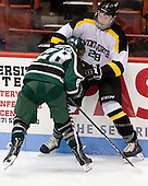 Alex Cottle (PSU - 28), Mike Domsodi (WIT - 28) - The visiting Plymouth State University Panthers defeated the Wentworth Institute of Technology Leopards 2-1 on Monday, November 19, 2012, at Matthews Arena in Boston, Massachusetts.