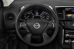 Car pictures of steering wheel view of a 2018 Nissan Pathfinder S 5 Door SUV Steering Wheel
