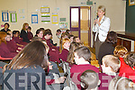 LIFE AS A MINISTER: When Minister for Education and Science Mary Hanafin TD visited CBS Primary School in Clounalour, Tralee, she spoke to the co-ed students about life as a Minister, explaining she has a very hectic schedule.