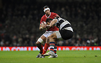 Wales Aaron Shingler gets away from Barbarians Curwin Bosch<br /> <br /> Photographer Ian Cook/CameraSport<br /> <br /> 2019 Autumn Internationals - Wales v Barbarians - Saturday 30th November 2019 - Principality Stadium - Cardifff<br /> <br /> World Copyright © 2019 CameraSport. All rights reserved. 43 Linden Ave. Countesthorpe. Leicester. England. LE8 5PG - Tel: +44 (0) 116 277 4147 - admin@camerasport.com - www.camerasport.com
