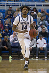 Nevada guard Lindsey Drew (14) brings the b all up ther floor against Colorado Christian during the second half of an NCAA college basketball game in Reno, Nev., Wednesday, Oct. 30, 2019.