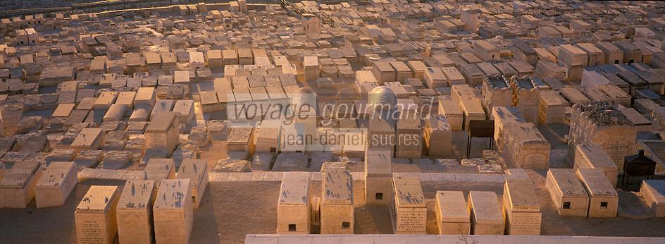 Asie/Israël/Judée/Jérusalem: Cimetière juif du Mont des Oliviers