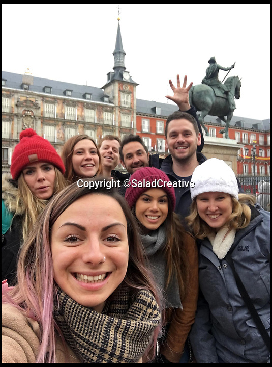BNPS.co.uk (01202 558833)Pic: SaladCreative/BNPS<br /> <br /> 2017 Christmas work trip to Madrid.<br /> <br /> Britain's 'best boss' has once again gone out of her way to treat her staff - by throwing a summer party.<br /> <br /> Arabella Lewis-Smith, 43, earned the title after taking her 20 staff on an all expenses paid trip to Madrid for a three day Christmas party, covering the £5,000 bill.<br /> <br /> Now, the founder of Salad Creative, a marketing agency, has further endeared herself to them by putting on a special day out on the idyllic Dorset coast.<br /> <br /> Things kicked off with a lively pub lunch, then the group meandered their way down to Knoll Beach in Studland for an afternoon picnic.