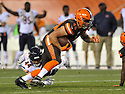 CLEVELAND, OH - SEPTEMBER 1, 2016: Tight end J.P. Holtz #49 of the Cleveland Browns carries the ball in the third quarter of a game on September 1, 2016 against the Chicago Bears at FirstEnergy Stadium in Cleveland, Ohio. Chicago won 21-7. (Photo by: 2016 Nick Cammett/Diamond Images)  *** Local Caption *** J.P. Holtz