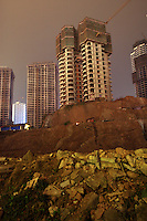CHINA. Sichuan Province. Chongqing. Housing developments nect to The Yangtze River which is at its lowest level in 150 years as a result of a country-wide drought. Chongqing is a city of over 3,000,000 people, famed for being the capital of China between 1938 and 1946 during World War II. It is situated on the banks of the Yangtze river, China's longest river and the third longest in the world. Originating in Tibet, the river flows for 3,964 miles (6,380km) through central China into the East China Sea at Shanghai.  2008.