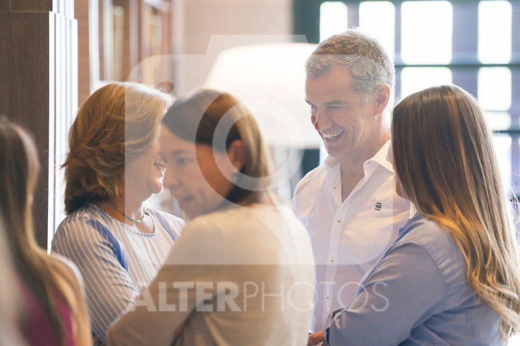Responsible for the anti-corruption area of Ciudadanos, Toni Canto, stayed in a Cafe during Albert Rivera's speech in General Council of Ciudadanos July 29, 2019. (ALTERPHOTOS/Francis González)