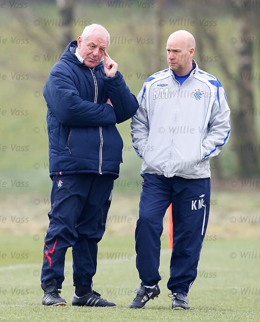 Walter Smith and Kenny McDowall