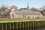 The Rigging Shed at Salem Maritime National Historic Site, which was the first National Historic Site in the National Park System. Located in Salem, Massachusetts USA