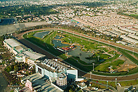 LA Race Track, Hollywood Park Helicopter View