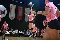 Eastern Michigan University Volleyball team was defeated 3-2 at Miaim. Oxford, OH. October 17, 2013