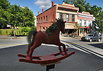 "A view of ""Grey Gardens"" created by artists, Erica Devries and Matt Dilling, one of the ""Rockin' Around Saugerties"" theme Statues on display throughout the Village of Saugerties, NY, on Sunday, June 4, 2017. Photo by Jim Peppler. Copyright/Jim Peppler-2017."