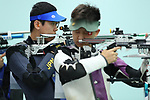 Naoya Okada (JPN), <br /> AUGUST 20, 2018 - Shooting - Rifle : <br /> Men's 10m Air Rifle <br /> at Jakabaring Sport Center Shooting Range <br /> during the 2018 Jakarta Palembang Asian Games <br /> in Palembang, Indonesia. <br /> (Photo by Yohei Osada/AFLO SPORT)