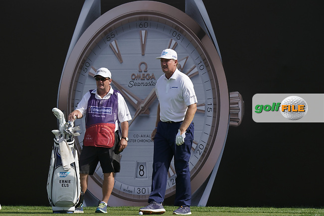 Ernie Els (RSA) during the third round of the Omega Dubai Desert Classic, Emirates Golf Club, Dubai, UAE. 26/01/2019<br /> Picture: Golffile | Phil Inglis<br /> <br /> <br /> All photo usage must carry mandatory copyright credit (&copy; Golffile | Phil Inglis)