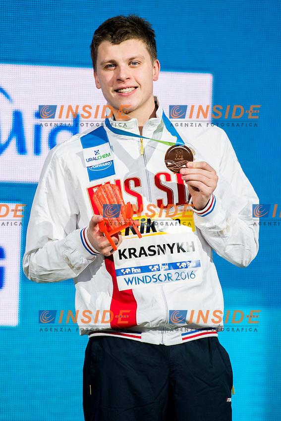 KRASNYKH Aleksandr RUS Bronze Medal<br /> Men's 200m Freestyle<br /> 13th Fina World Swimming Championships 25m <br /> Windsor  Dec. 7th, 2016 - Day02 Finals<br /> WFCU Centre - Windsor Ontario Canada CAN <br /> 20161207 WFCU Centre - Windsor Ontario Canada CAN <br /> Photo &copy; Giorgio Scala/Deepbluemedia/Insidefoto