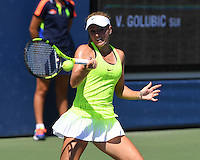FLUSHING NY- AUGUST 29: Catherine Bellis Vs V Goublic on court 6 at the USTA Billie Jean King National Tennis Center on August 29, 2016 in Flushing Queens. Photo by MPI04/MediaPunch