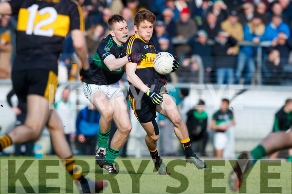 Gavin White Dr Crokes in action against Alan O'Donovan Nemo Rangers in the Munster Senior Club Championship Final at Páirc Ui Rinn, Cork on Sunday.