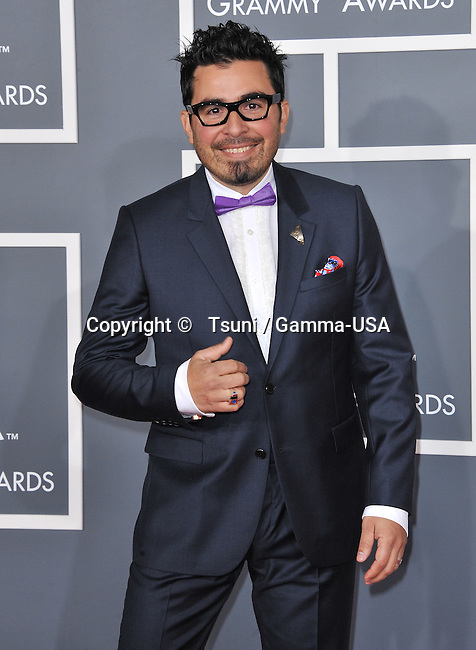 Hector Hecdog Perez  at  the 55th Ann. Grammy Awards 2013 at the Staples Center in Los Angeles.