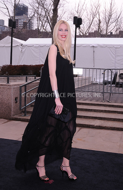 WWW.ACEPIXS.COM . . . . .  ....March 16 2009, New York City....Model Claudia Schiffer arriving at The Metropolitan Opera's 125th Anniversary Gala at The Metropolitan Opera House at the Lincoln Center on March 15, 2009 in New York City.....Please byline: AJ Sokalner - ACEPIXS.COM..... *** ***..Ace Pictures, Inc:  ..tel: (212) 243 8787..e-mail: info@acepixs.com..web: http://www.acepixs.com